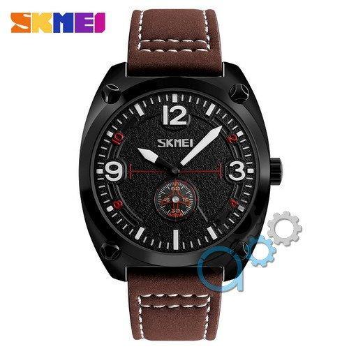 Наручные мужские часы Skmei 9155 Brown-Black-White