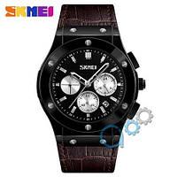 Наручные мужские часы Skmei 9157 Brown-Black-Silver