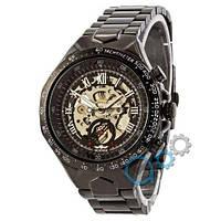 Наручные мужские часы Winner Black-Silver Red Cristal