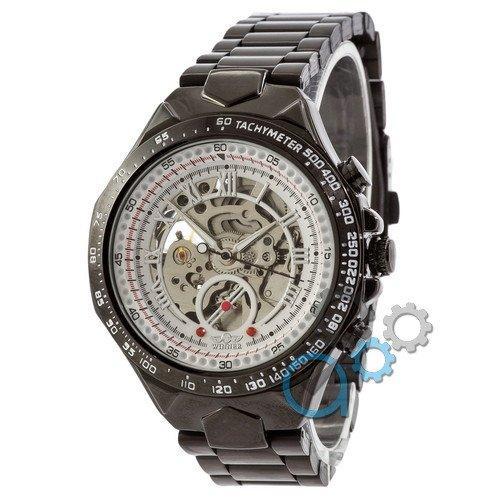 Наручные мужские часы Winner Black-White Red Cristal