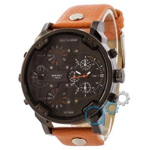 Наручные мужские часы Diesel DZ7314 All Black-Orange Orange-Wristband