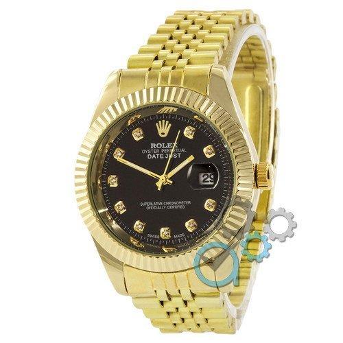 Наручные мужские часы Rolex Date Just Gold-Black