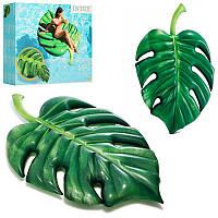 Оригинальный и необычный Плот - матрас для воды Пальмовый лист213 - 142 см, Intex58782