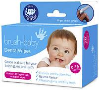 Brush-Baby Одноразовые салфетки Brush-Baby Dental Wipes, фото 1