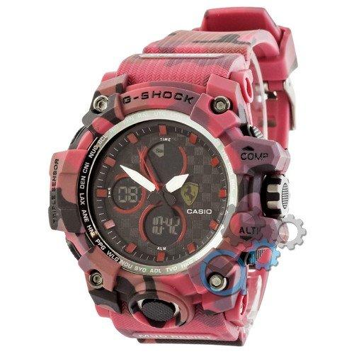 Наручные мужские часы Casio G-Shock Ferrari Red-Militari