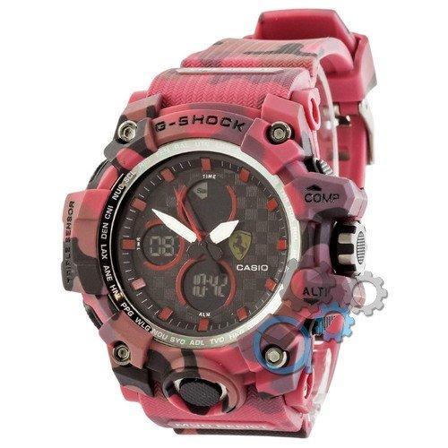 Наручные мужские часы Casio G-Shock Ferrari Red-Militari, фото 1