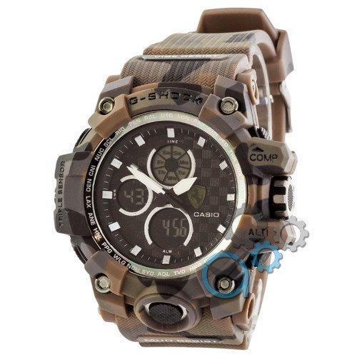 Наручные мужские часы Casio G-Shock Ferrari Brown-Militari