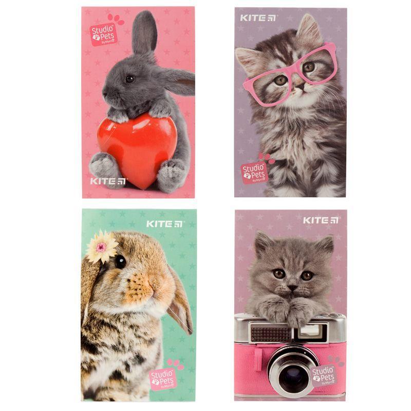 Блокнот-планшет KITE Studio Pets SP19-195-2, А6, 50 листов, нелинованный
