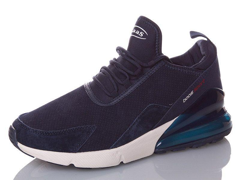 Мужские кроссовки BaaS замшевые тёмно-синие