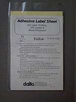 Пленка для лазерной печати желтая самоклеющаяся А4 10 л/упак LPD-10CT YEL Daito (02733)