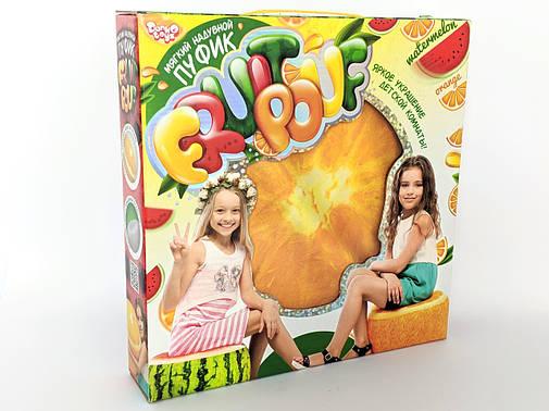 """Мягкий надувной пуфик """"FRUIT POUF"""" апельсинка, фото 2"""