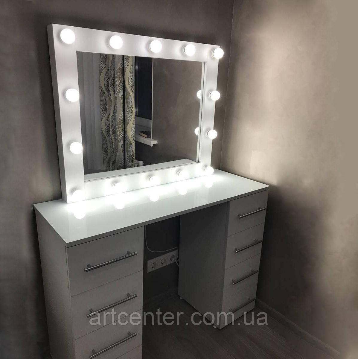 Стол для макияжа с двумя тумбами, стол с зеркалом в спальню