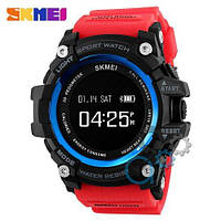 Наручные мужские часы Skmei 1188 Black-Blue Red Wristband
