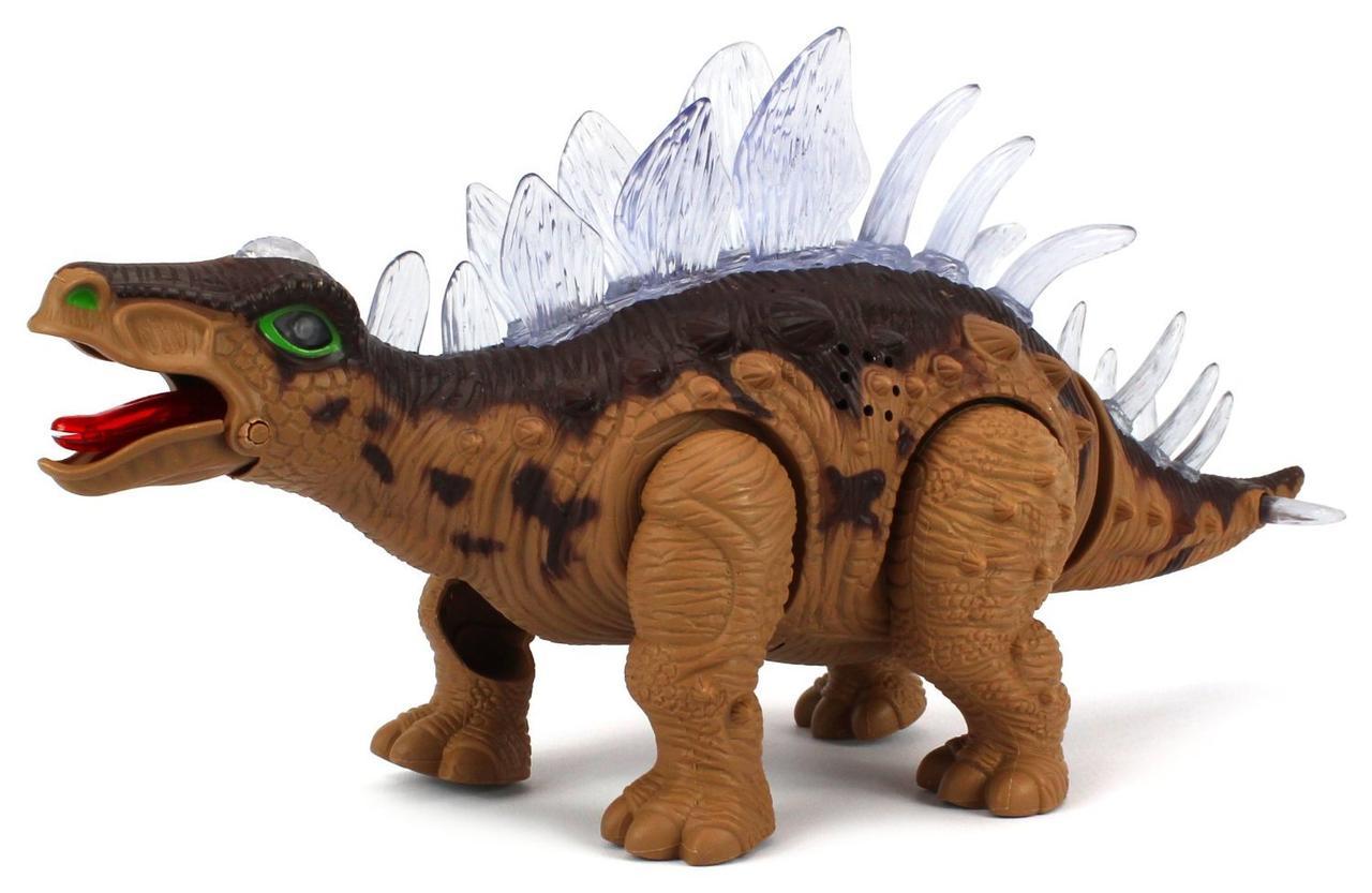 Динозавр 9789-85 26см, 2 кольори, звук, світло, на батарейки, подвіжні деталі, в коробці 26*12 см
