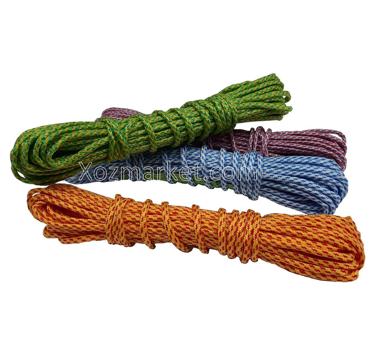 Веревка бельевая Мтех (Мотузка для білизни) 6 мм/100 м