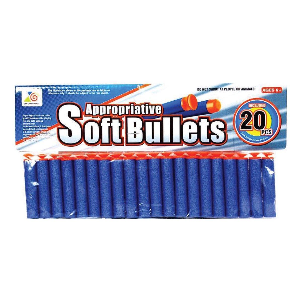 Мягкие патроны с присосками Ze Cong Toys 20 шт 02*20 ТМ: Zecong Toys