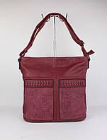 Мягкая женская сумка через плечо Lida 2104 красная, Италия, фото 1