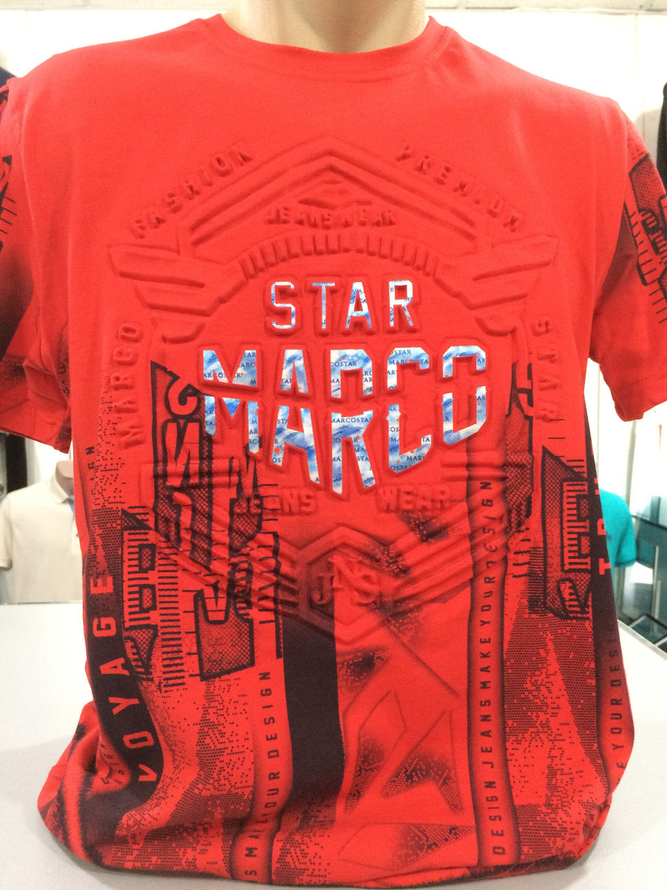 Стильна молодіжна чоловіча футболка.Червона.Туреччина.Hedricy Розмір - L(50) d64489e4e6f90