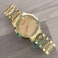 Наручные женские часы Gucci All Gold Cristal