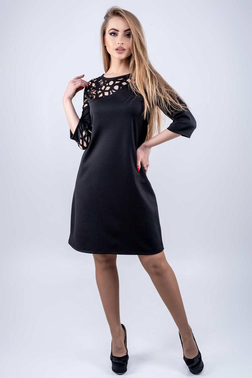 Молодежное платье Луиза черный(44-52)