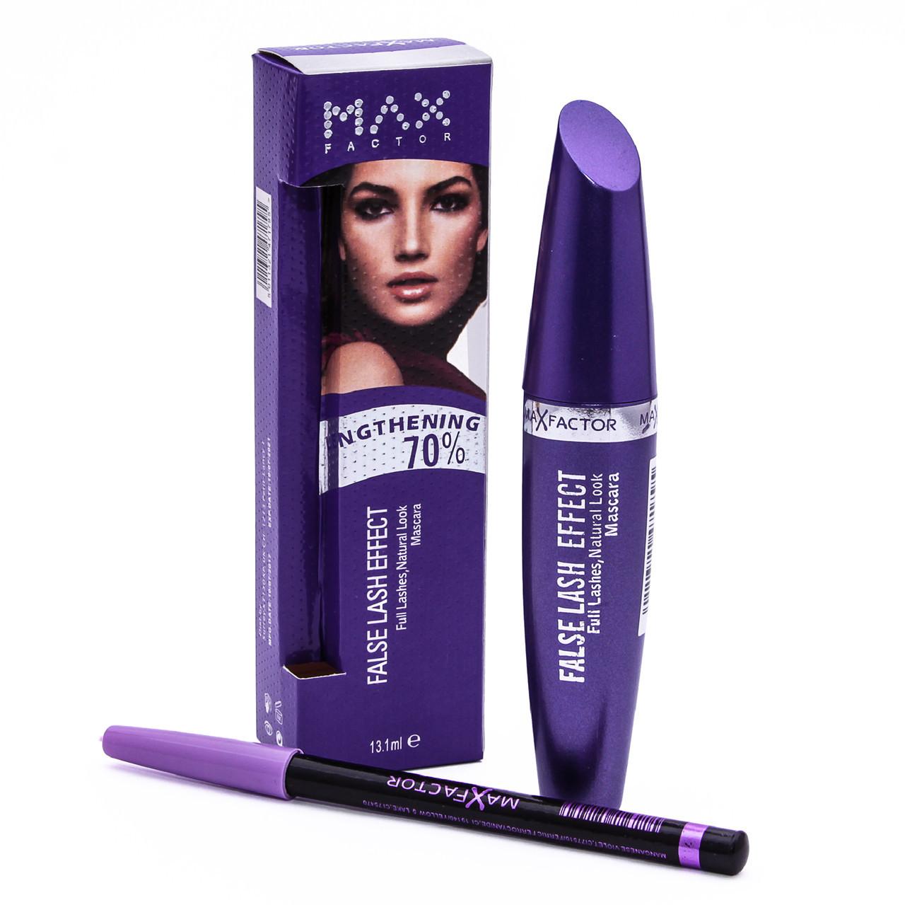 Тушь для ресниц Max Factor False Lash Effect (Фиолетовая) + карандаш