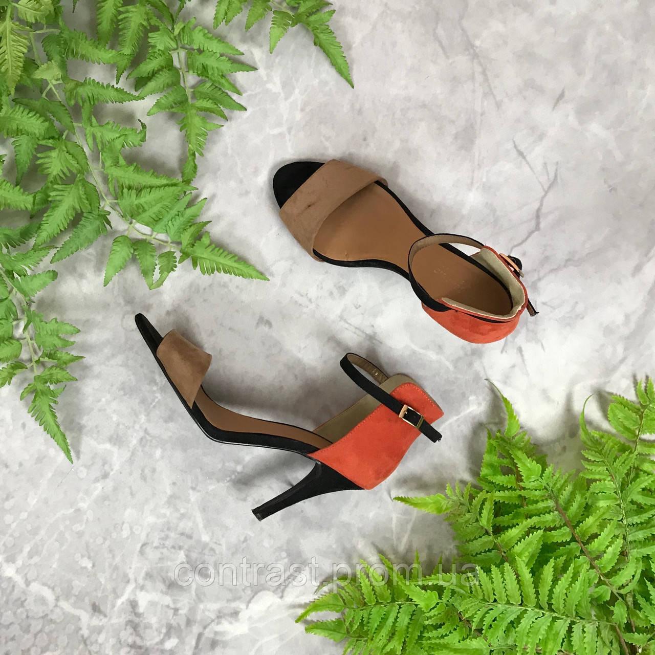 e84248a9f Комбинированные босоножки с застежкой на щиколотке SH1910100 - Интернет  Магазин стильной одежды shopagolic. Сток и