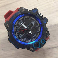 Наручные мужские часы Casio G-Shock GWG-1000 Black-Blue-Gray-Red Wristband