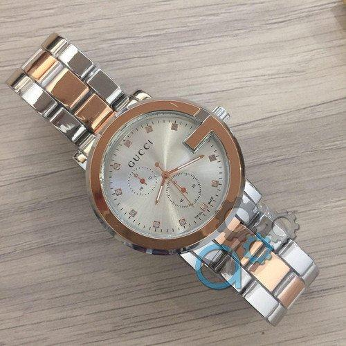 Наручные женские часы Gucci 6844Z Silver-Cuprum-Silver