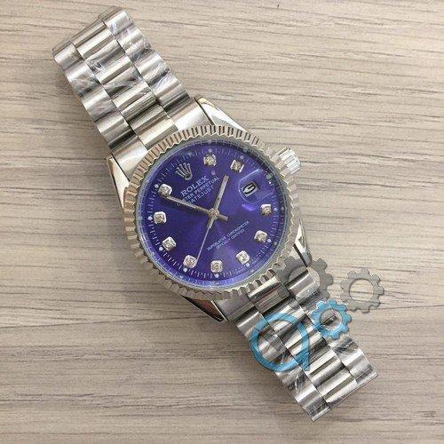 Наручные мужские часыRolex Date Just New Silver-Blue