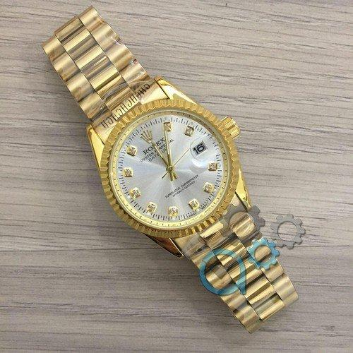 Наручные мужские часы Rolex Date Just New Gold-Silver
