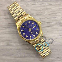 Наручные мужские часы Rolex Date Just New Gold-Blue