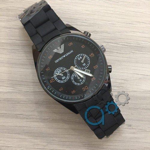 Наручные мужские часы Emporio Armani Silicone All Black