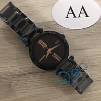 Наручные мужские часы Gucci 046 All Black-Gold