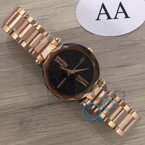 Наручные мужские часы Gucci 046 Gold-Black