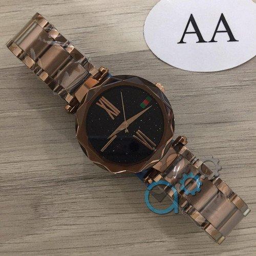 Наручные мужские часы Gucci 046 Bronze-Black
