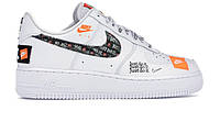 Кроссовки женские Nike Air Force 1 Just Do It Pack White	 (Реплика ААА класса)