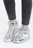 Серебряные кроссовки женские 39 Vices