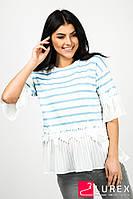 a80308d59de Шифоновая блуза с обнаженными плечами 3076