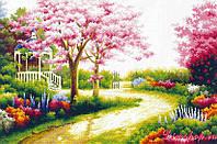 Набор для вышивки крестом Красивый сад. Размер: 47,6*31,8 см