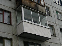 Остекление балкона в хрущёвке 2 м