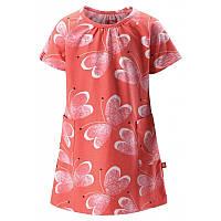 Коралловое летнее платье Haili размеры 104;110;86;92;98 лето девочка TM Reima 515001-3343