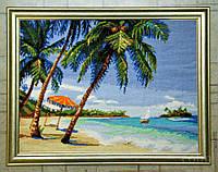 Набор для вышивки крестом Пляж. Размер: 38*28,6 см