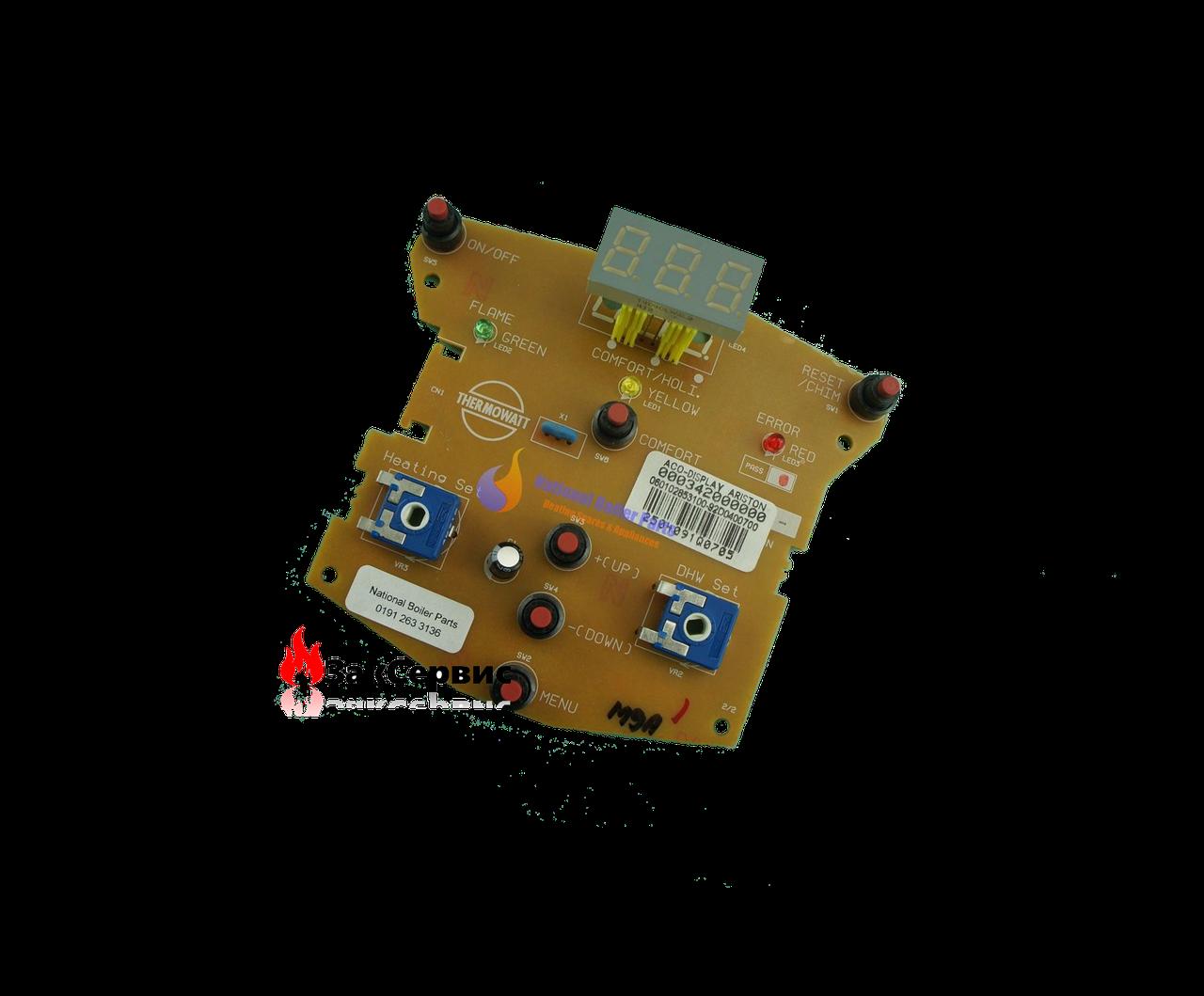 Плата дисплея на газовый котел ARISTON ACO 27-32 MFFI/RFFI 65102235
