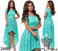 Вечірня гипюрова сукня  , фото 1