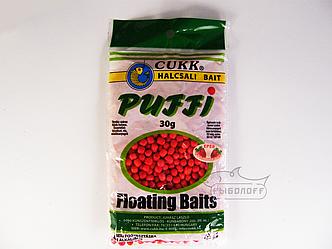 Прикормка CUKK Puffi со вкусом клубники мелкого размера 30г
