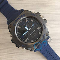 Наручные мужские часы Casio G-Shock GLG-1000 All Black-Blue Wristband