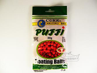 Прикормка CUKK Puffi со вкусом клубники крупного размера 30г