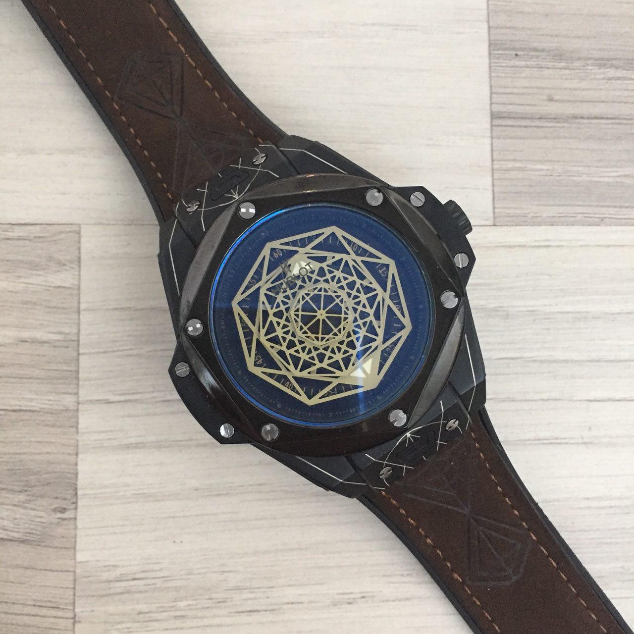 Наручные мужские часы Hublot Big Bang Sang Bleu Brown-Black-Black
