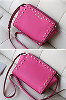 Michael Kors Selma Medium Studded Leath Meressenger Pink, фото 1