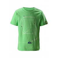 Салатовая футболка унисекс Reima Mos размеры 104;116;98 лето девочка;мальчик TM Reima 516342-8460